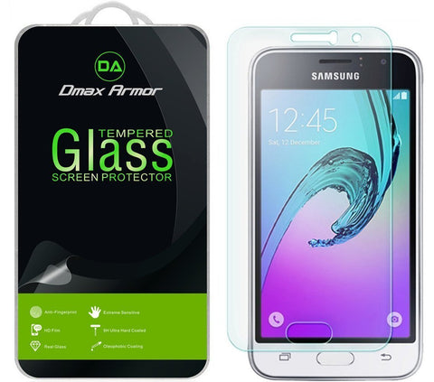 [2-Pack] Samsung Galaxy Luna Screen Protector, Dmax Armor [Tempered Glass] 0.3mm 9H Hardness, Anti-Scratch, Anti-Fingerprint, Bubble Free, Ultra-clear
