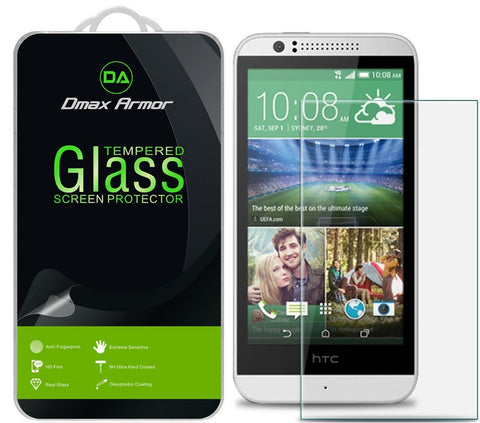 [2-Pack] HTC Desire 512 / Desire 510 Screen Protector, Dmax Armor® [Tempered Glass] 9H Hardness, Anti-Scratch, Anti-Fingerprint, Bubble Free, Ultra-clear - [ Lifetime Warranty]
