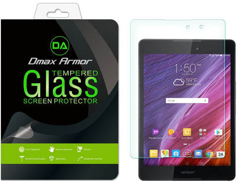 ASUS Zenpad Z8 Screen Protector, Dmax Armor® [Tempered Glass] 99% Touch-screen Accurate, Anti-Scratch, Anti-Fingerprint, Round Edge [0.3mm] [ Lifetime Warranty]