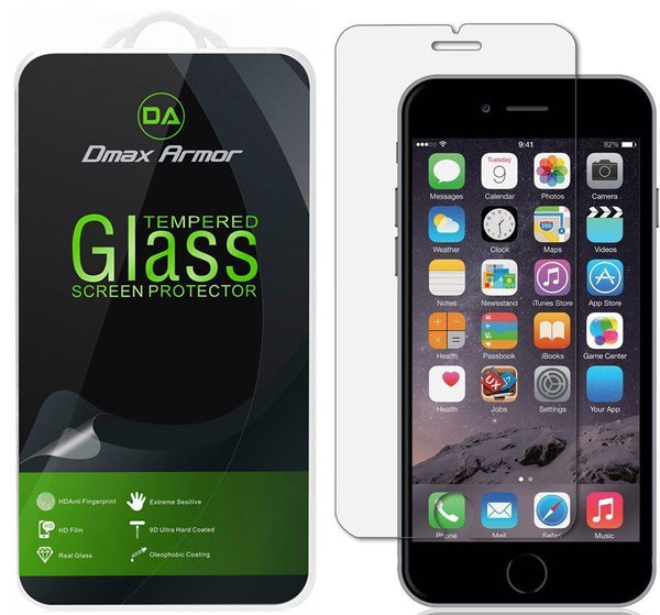 iPhone 6S Glass Screen Protector, Dmax Armor® iPhone 6S Screen protector [Tempered Glass] Ballistics Glass, Anti-Scratch, Anti-Fingerprint, Bubble Free [0.3mm] Ultra-clear