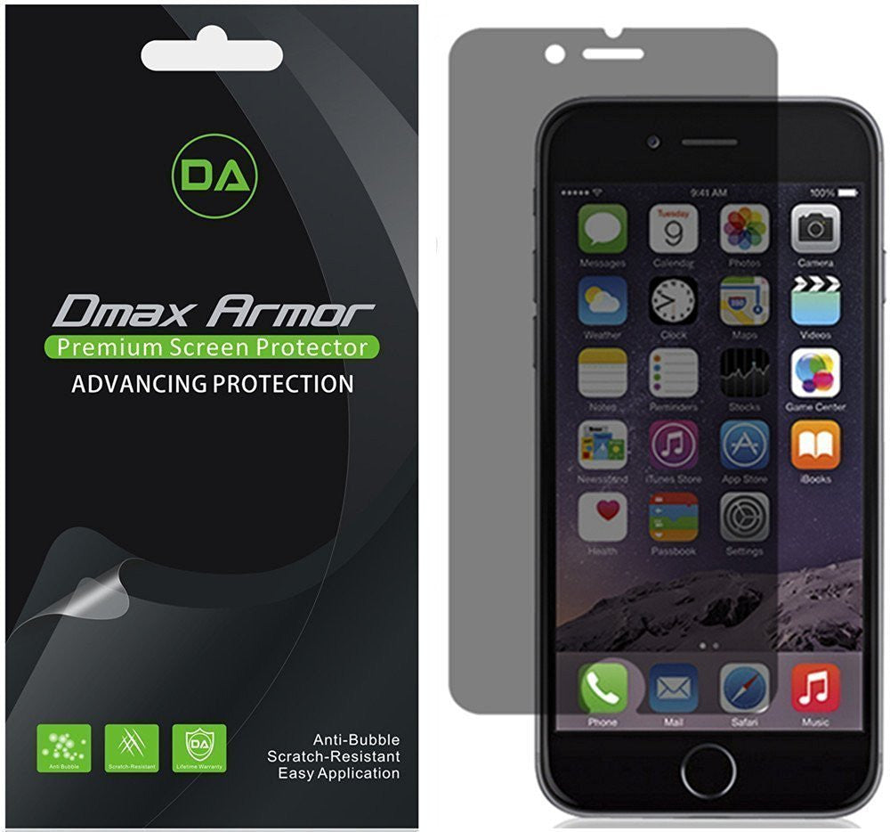 [2-Pack] Dmax Armor- Apple iPhone 7 Plus Privacy Anti-Spy Screen Protector Shield - Lifetime Replacements Warranty- Retail Packaging