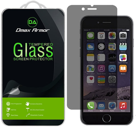 iPhone 7 Plus Privacy Anti-Spy Glass Screen Protector, Dmax Armor® [Tempered Glass] 0.3mm 9H Hardness, Anti-Scratch, Anti-Fingerprint, Bubble Free - Retail Packaging