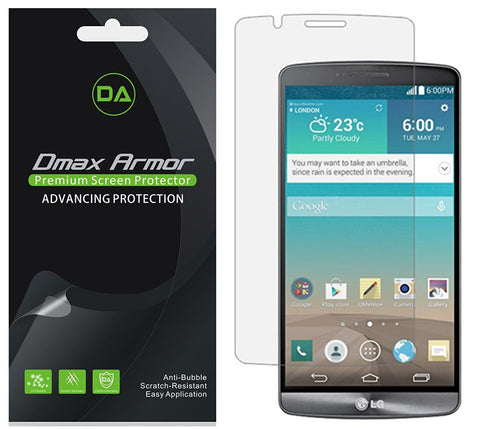 [6-Pack] Dmax Armor®  LG G3 Screen Protector, Anti-Bubble High Definition Clear Shield - Lifetime Replacements Warranty- Retail Packaging