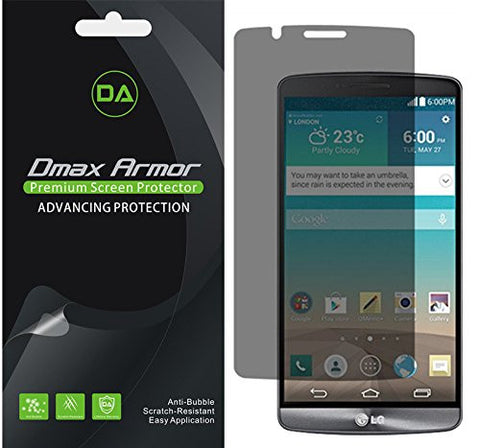 [2-Pack] Dmax Armor®- LG G3 Privacy Anti-Spy Screen Protector Shield - Lifetime Replacements Warranty- Retail Packaging