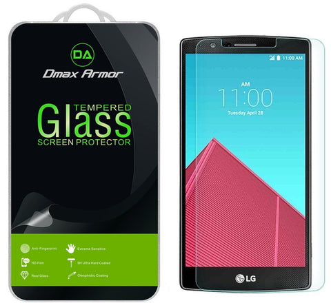 [2-Pack] LG G4 Screen Protector, Dmax Armor® [Tempered Glass] 0.3mm 9H Hardness, Anti-Scratch, Anti-Fingerprint, Bubble Free, Ultra-clear - [ Lifetime Warranty]