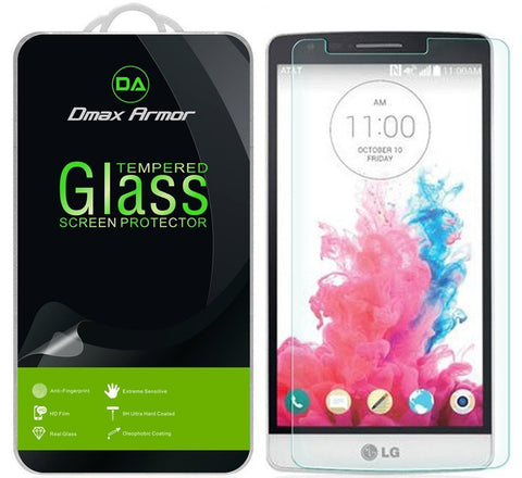 [2-Pack] LG G3 Screen Protector, Dmax Armor® [Tempered Glass] 0.3mm 9H Hardness, Anti-Scratch, Anti-Fingerprint, Bubble Free, Ultra-clear - [ Lifetime Warranty]