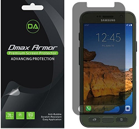 [2-Pack] Dmax Armor®- Samsung Galaxy S7 Active Privacy Anti-Spy Screen Protector Shield - Lifetime Replacements Warranty- Retail Packaging