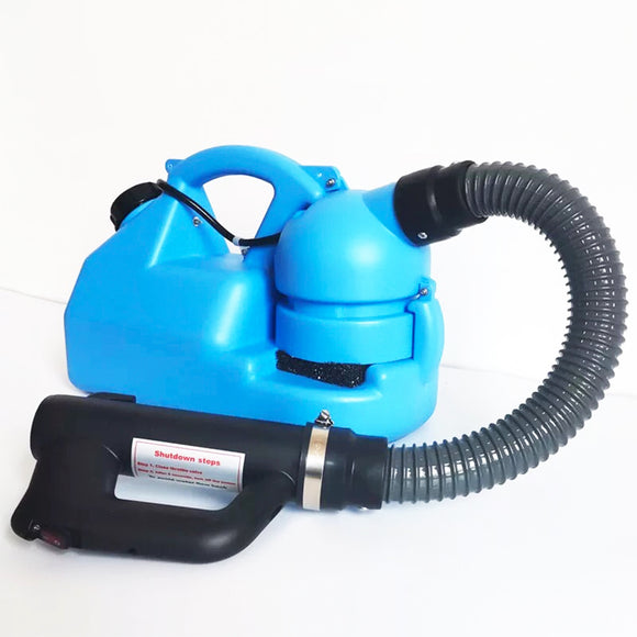 7L Electric ULV Fogger - Electric Fogger Machine with Adjustable Particle Size 0-50μm/Mm - Suitable for Indoor/Outdoor Public Use (Blue)