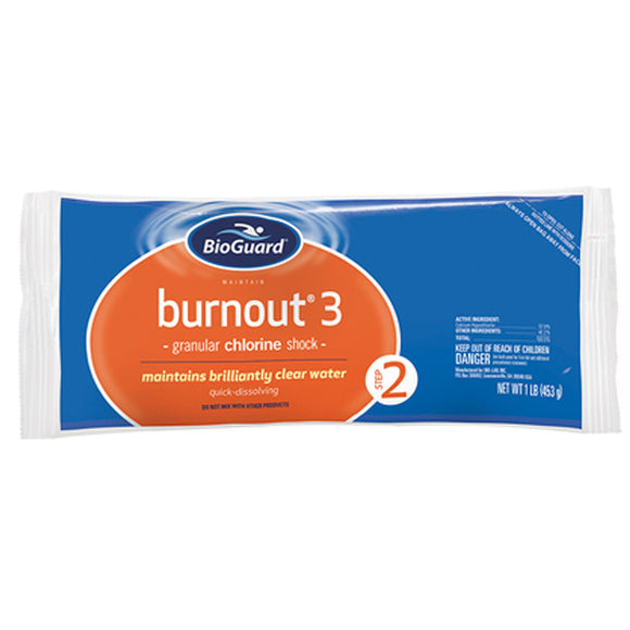 Burn Out 3 - 1 LB Granular Chlorine Shock