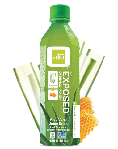 ALO Exposed Original Aloe Vera Drink with Honey 12 x 500ml - Fine Food Direct