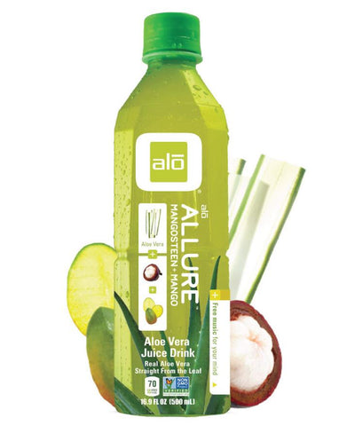 ALO Allure Aloe Vera Drink with Mango & Mangosteen 12 x 500ml - Fine Food Direct