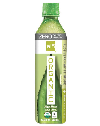 ALO Organic Zero Aloe Vera & White Grape 500ml