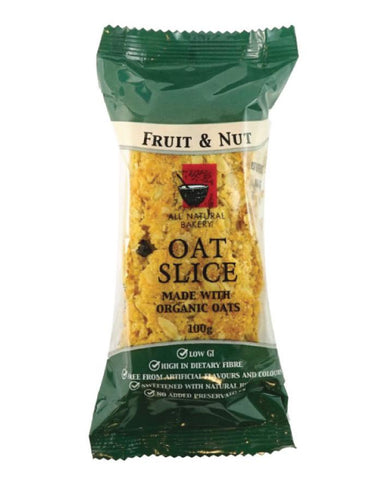 All Natural Bakery Organic Oat Slice Fruit & Nut 14 x 100g - Fine Food Direct