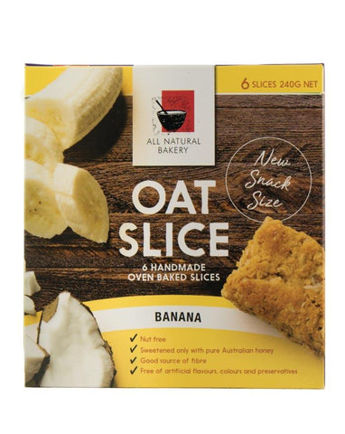 All Natural Bakery Multipack Oat Slice Banana 240g - Fine Food Direct