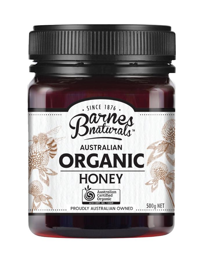 Barnes Naturals Organic Honey 500g - Fine Food Direct