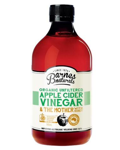 Barnes Naturals Organic Apple Cider Vinegar & Honey 500ml - Fine Food Direct