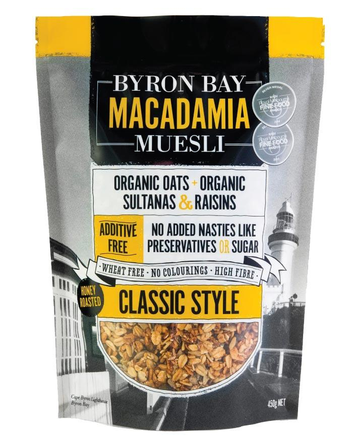 Byron Bay Macadamia Muesli Classic 450g - Fine Food Direct