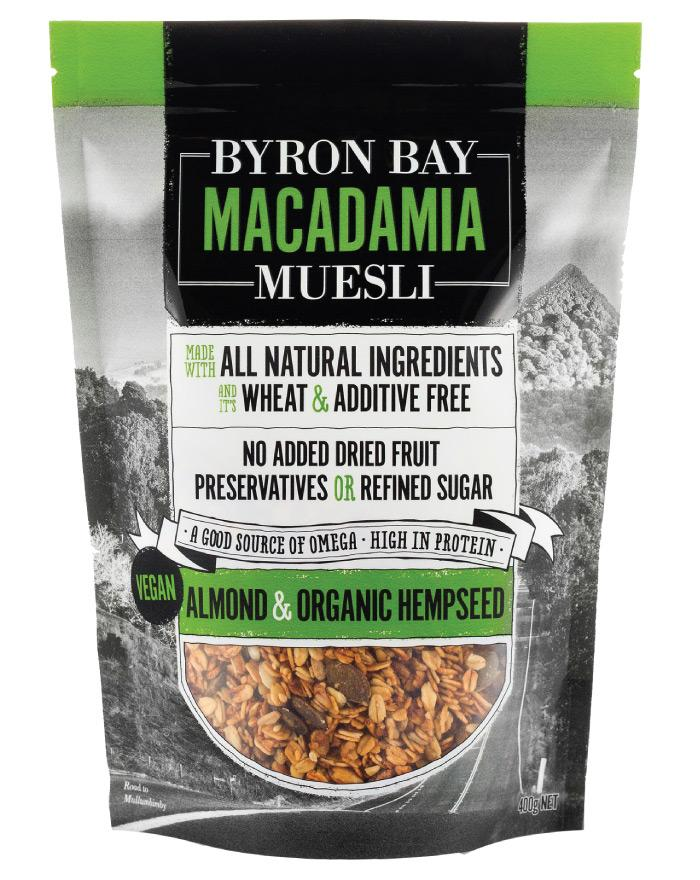 Byron Bay Muesli Almond & Organic Hempseed Muesli 400g - Fine Food Direct