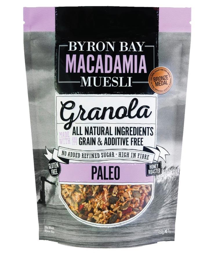 Byron Bay Macadamia Muesli Paleo Granola 450g - Fine Food Direct