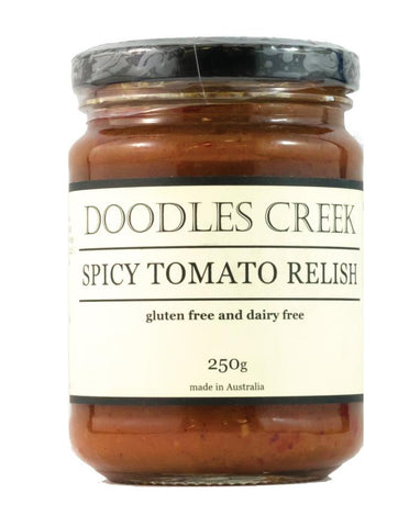 Doodles Creek Spicy Tomato Relish 250g - Fine Food Direct
