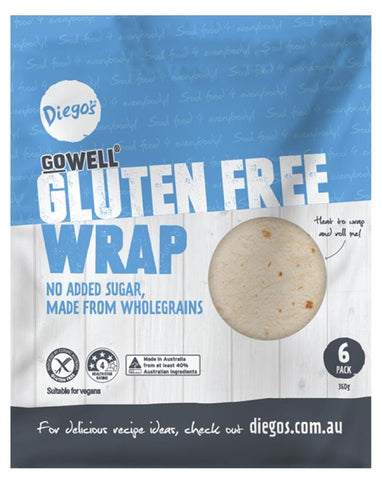 Diego's GoWELL Gluten Free Wrap 6pk 360g - Fine Food Direct