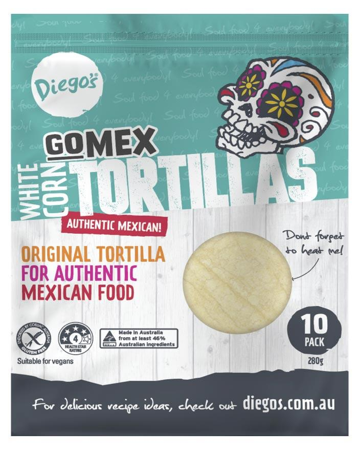 Diego's GoMEX Corn Tortilla 10pk 280g - Fine Food Direct
