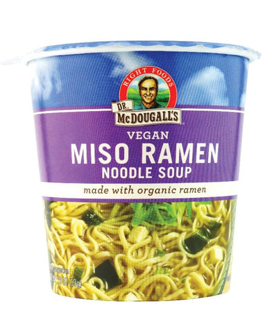 Dr. McDougall's Big Cup Miso with Organic Noodles 6 x 54g - Fine Food Direct