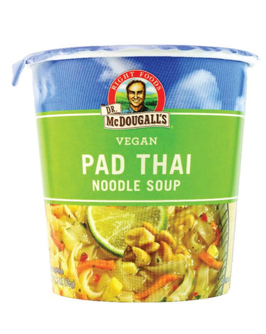 Dr. McDougall's Gluten Free Big Cup Pad Thai Noodle 6 x 57g - Fine Food Direct