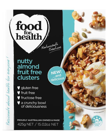 Food for Health Nutty Almond Clusters 425g - Fine Food Direct