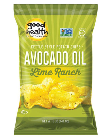 Good Health Snacks Avocado Oil Potato Chips Chilean Lime 142g - Fine Food Direct