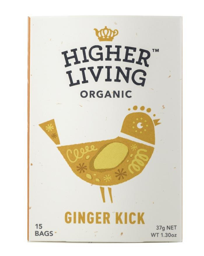 Higher Living Organic Ginger Kick 3 x 27g - Fine Food Direct