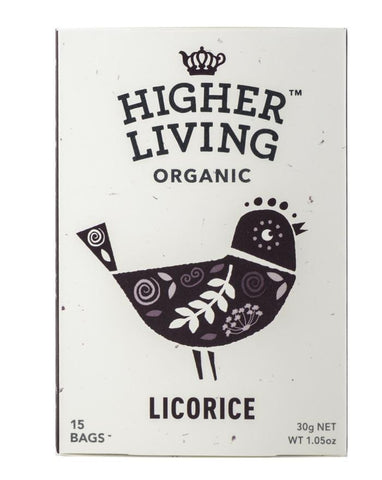 Higher Living Organic Licorice 3 x 22g - Fine Food Direct
