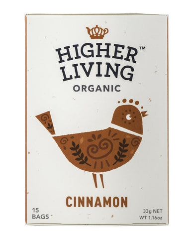 Higher Living Organic Cinnamon 3 x 26g - Fine Food Direct