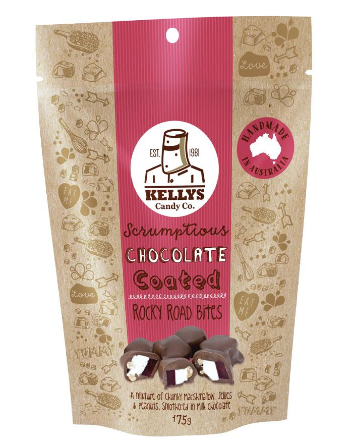 Kellys Candy Co Pouch Rocky Road Bites 175g - Fine Food Direct