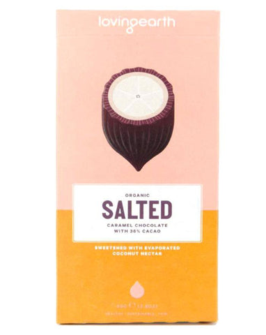 Loving Earth Organic Salted Caramel Chocolate 80g - Fine Food Direct