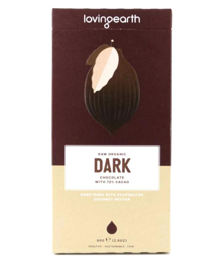 Loving Earth Organic Dark Chocolate 80g - Fine Food Direct