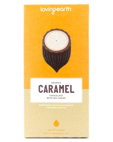 Loving Earth Organic Caramel Chocolate 80g - Fine Food Direct