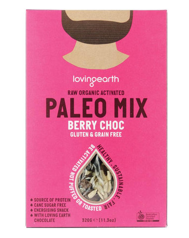 Loving Earth Organic Cereals Paleo Mix Choc Berry 320g - Fine Food Direct