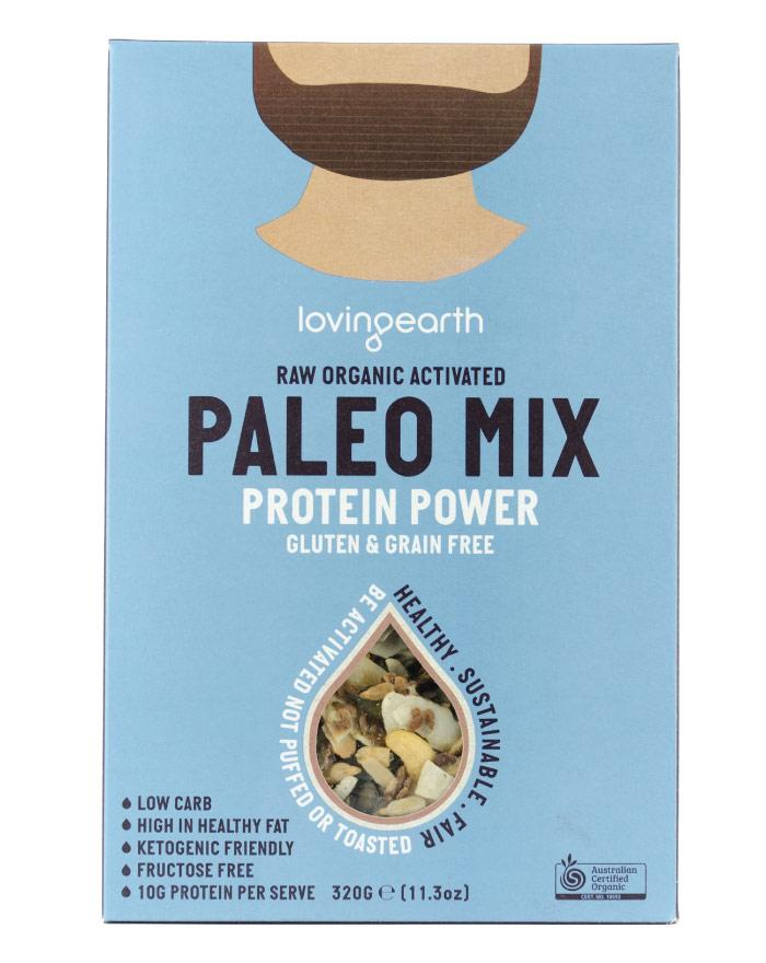 Loving Earth Organic Cereals Paleo Mix Power Protein 320g - Fine Food Direct