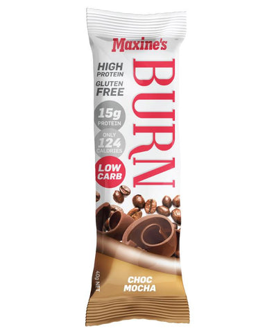 Maxine's Burn Bar Choc Mocha 12 x 40g - Fine Food Direct