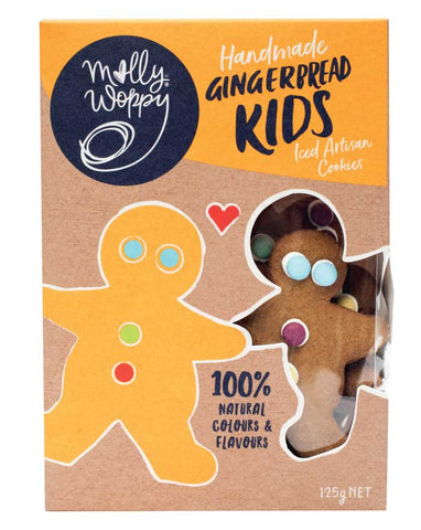 Molly Woppy Artisan Cookies Gingerbread Kid 125g - Fine Food Direct