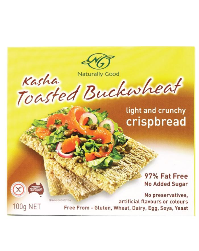 Naturally Good Kasha Toasted Buckwheat Crispbread 100g - Fine Food Direct