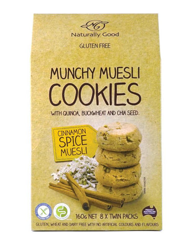 Naturally Good Munchy Muesli Cookies Cinnamon Spice 160g - Fine Food Direct