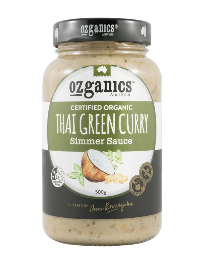 Ozganics Thai Green Curry Sauce 500g - Fine Food Direct