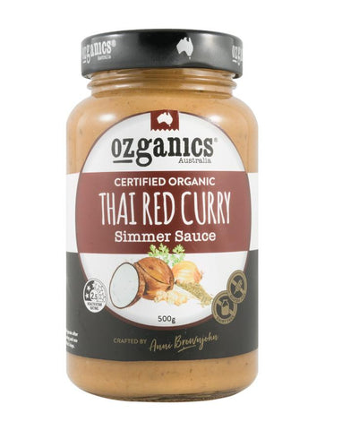 Ozganics Thai Red Curry Sauce 500g - Fine Food Direct