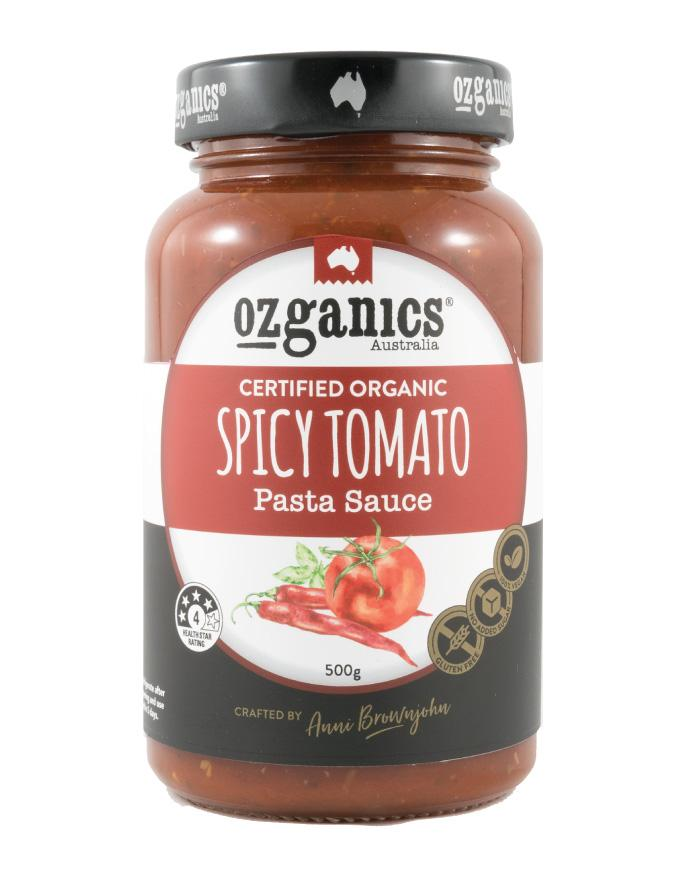 Ozganics Spicy Tomato Pasta Sauce 500g - Fine Food Direct
