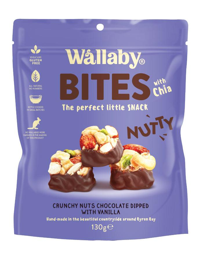 Wallaby Nutty Bites Vanilla 130g - Fine Food Direct