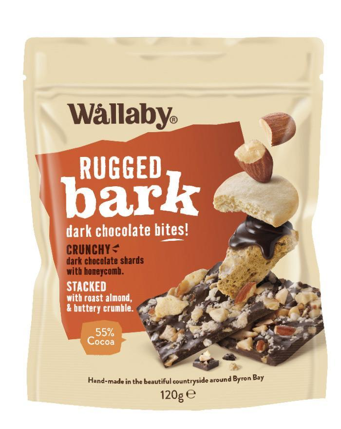 Wallaby Rugged Bark Honey Comb Crumble 1 x 120g - Fine Food Direct
