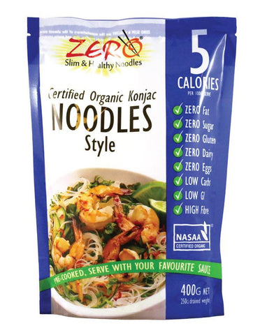 Zero Slim & Healthy Noodle Style 400g - Fine Food Direct