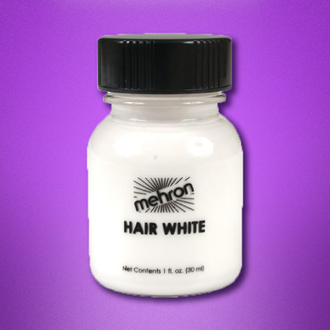 Mehron Hair White: 30mL